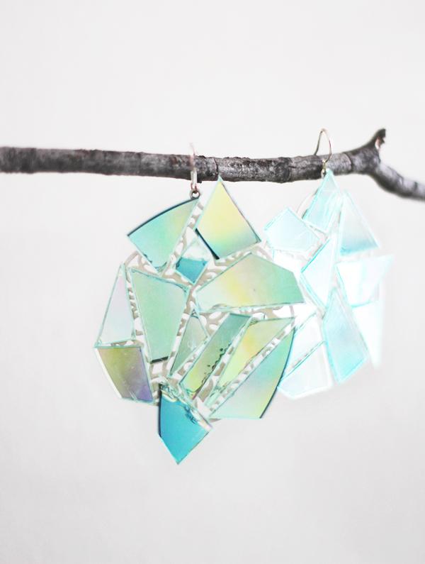 DIY kaleidoscope earrings