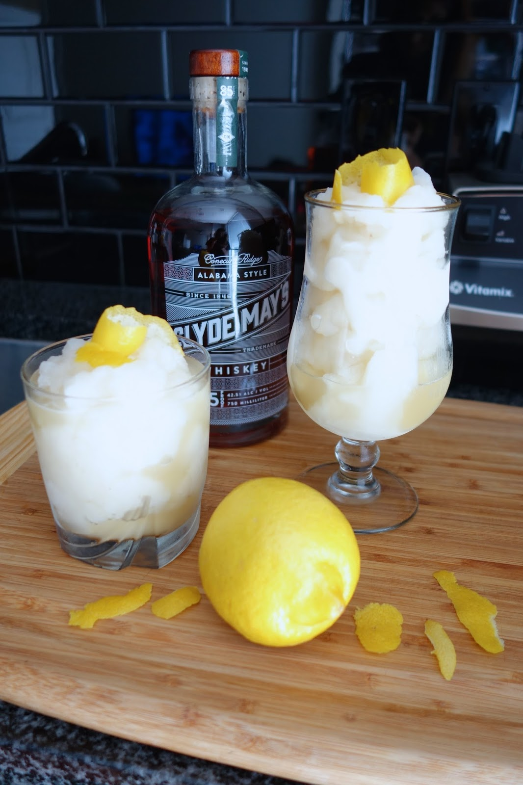 Whiskey Lemon Rita boozy drink