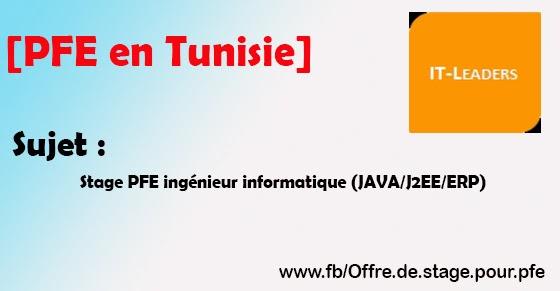 pfe en tunisie stage pfe ing u00e9nieur informatique  java  j2ee  erp