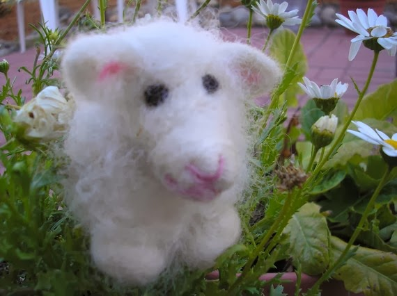 needle felted wool lamb patty by PearCreekCottage