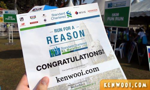 kl marathon 2012 certificate