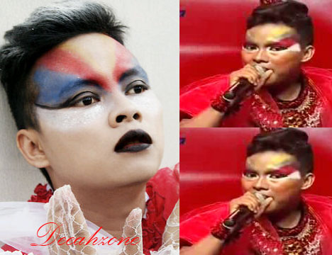Aksi Wahyu Galaxy Amajing Malam Final X-Factor Indonesia