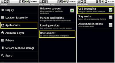 شرح تفعيل خيار التصحيح USB Debugging فى اندرويد 2.3 او الاصدارات الاقدم منه (السابقة).