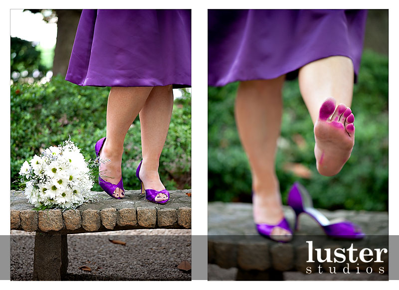 Cute Purple Bridal Shoes
