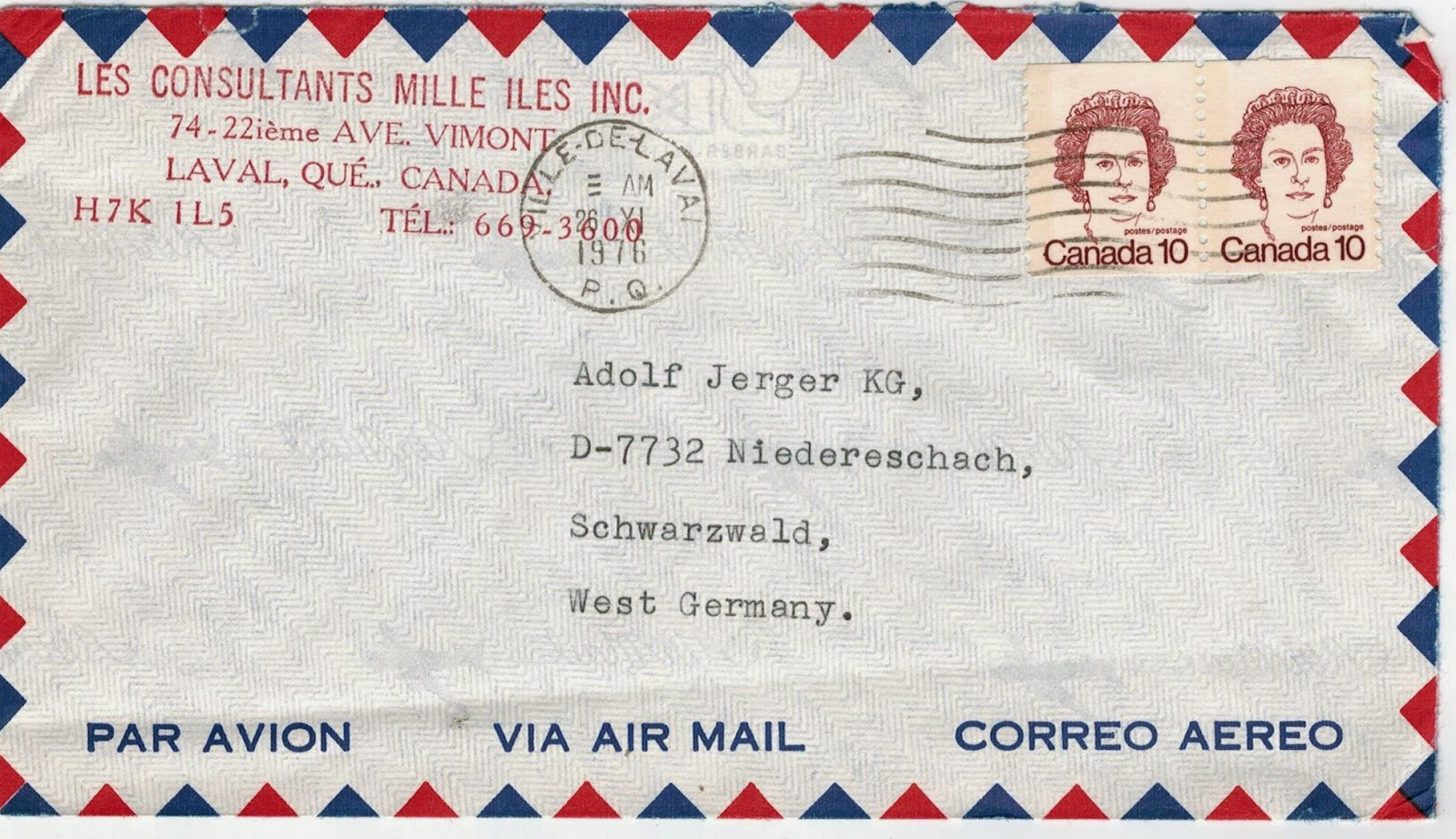 Postal History Corner: 20 Cent International Letter Rate Period 1976