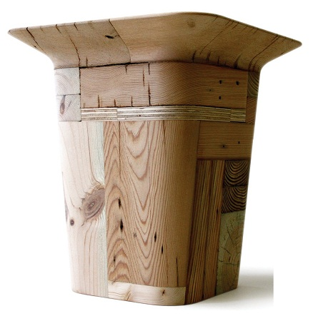 Taburetes de madera reciclada muebles for Diseno de muebles con madera reciclada