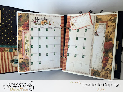 Planner love woth Graphic 45 mixed media album and Time to Flourish, Steampunk Debutante and Botanicabella