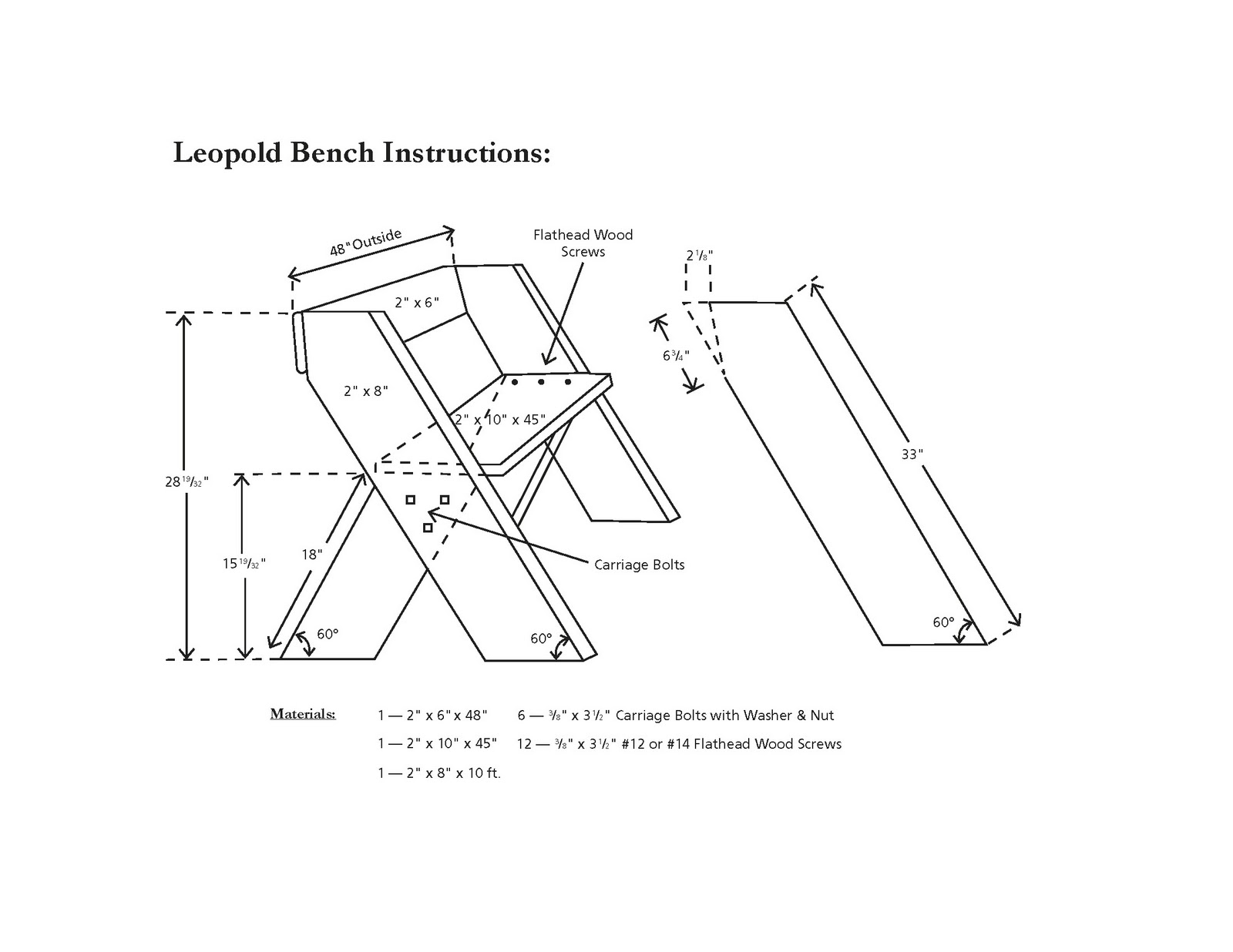 aldo leopold garden bench plans