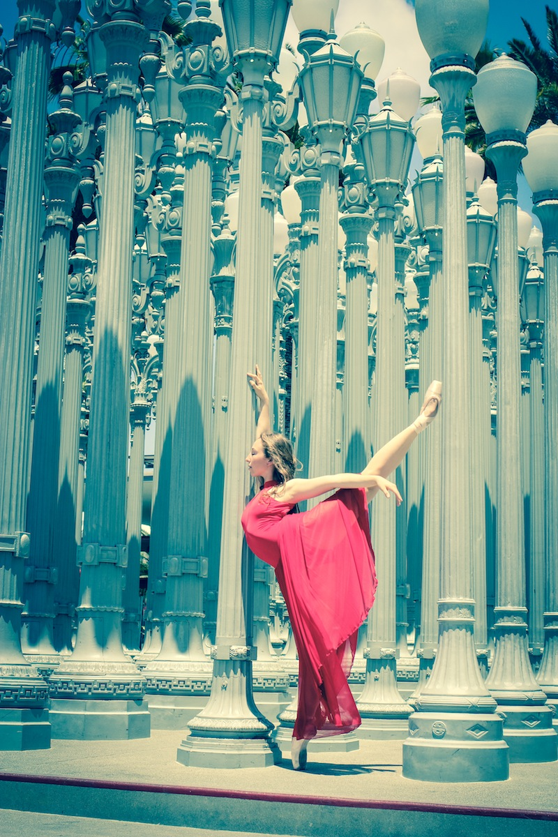 Ballerina Katie and Urban Light Photo by Heather Toner @Firebirdzine