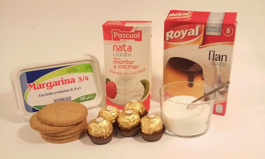 ingredientes tarta ferrero rocher