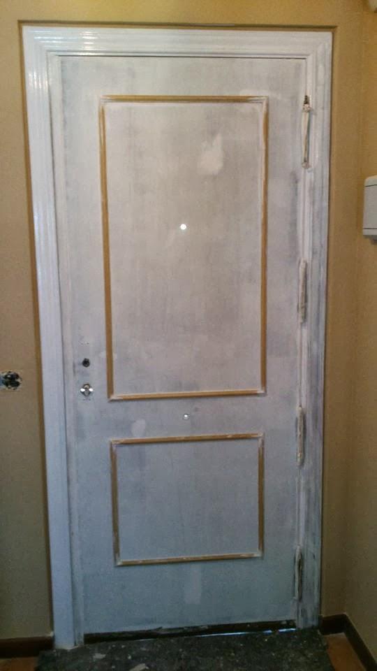 A y a pintura y decoraci n transformar una puerta de paso - Puertas blancas lacadas o pintadas ...