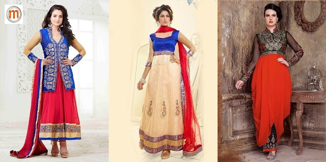 Designer Wedding Wear Anrakali Suits at Moksha Fashions