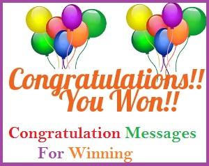 Congratulation Messages Winning