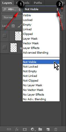 Filter layers by attribute Not Visible