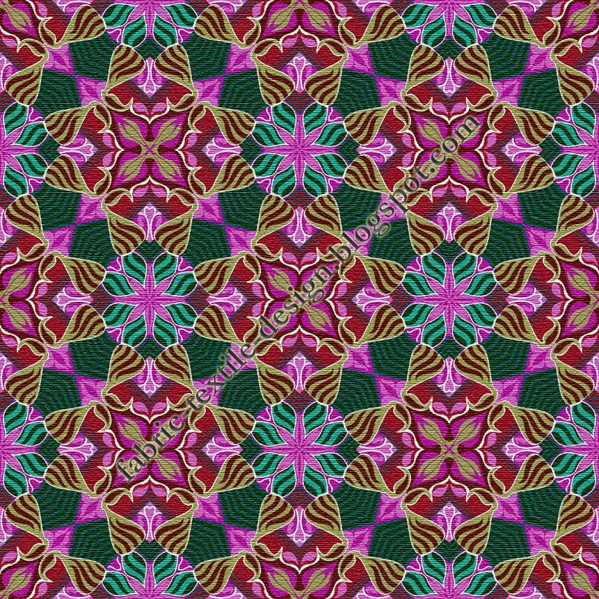 Digital printing on fabric bedsheet designs geometric for Fabric printing