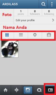 Cara Pemakain Aplikasi Instagram Dengan Gambar Edit Profile