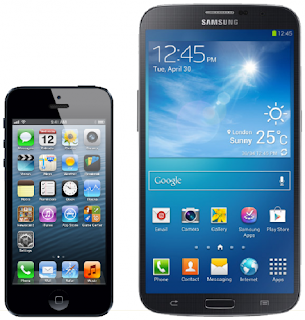 Samsung Galaxy Mega6.3 vs Apple Iphone 5