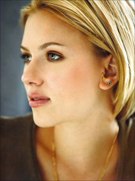 scarlett johansson and tragus piercing gallery