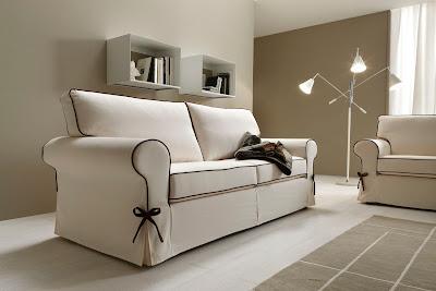 Divani blog tino mariani moda e tendenza arredare il salotto con il bianco - Divano letto nuovarredo ...
