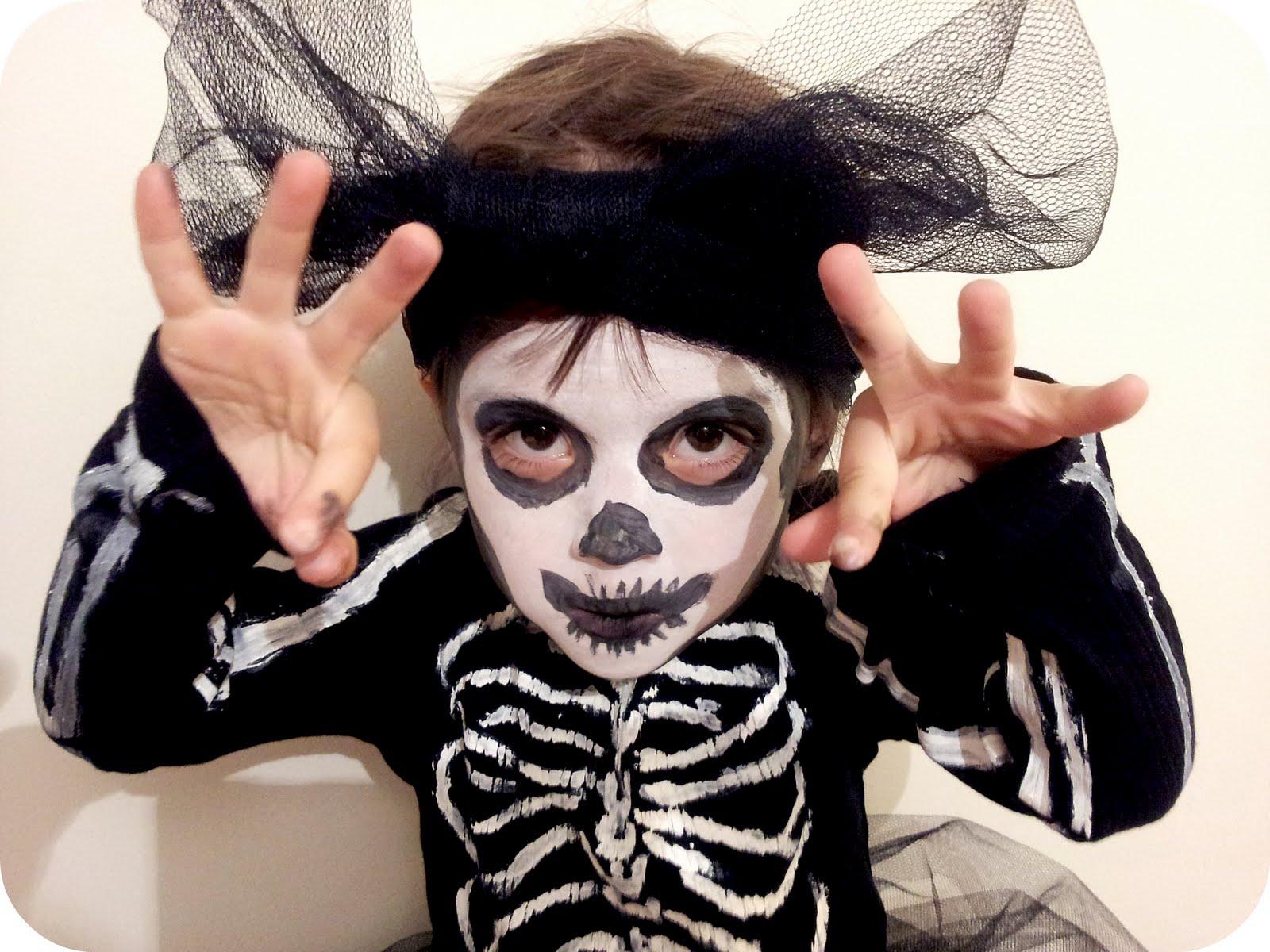 Julie adore comment faire un costume de halloween - Maquillage halloween garcon simple ...