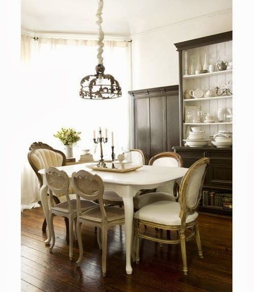 shabby in love mixed dining chairs in dining rooms