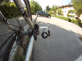 GoPro on bike frame