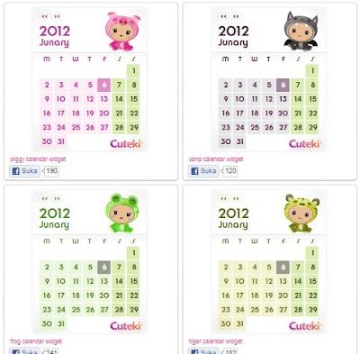 Kalender Lucu Untuk Blogger