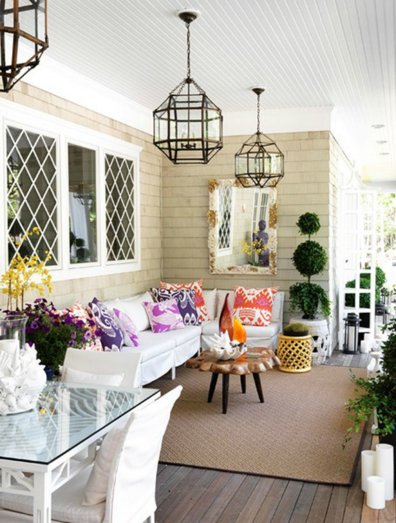 Coastal home 10 ways to to transform your outdoor living space a few great lanterns or chandeliers can transform your outdoor space into a coastal retreat arubaitofo Image collections
