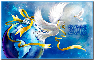 Capodanno con le colombe bianche