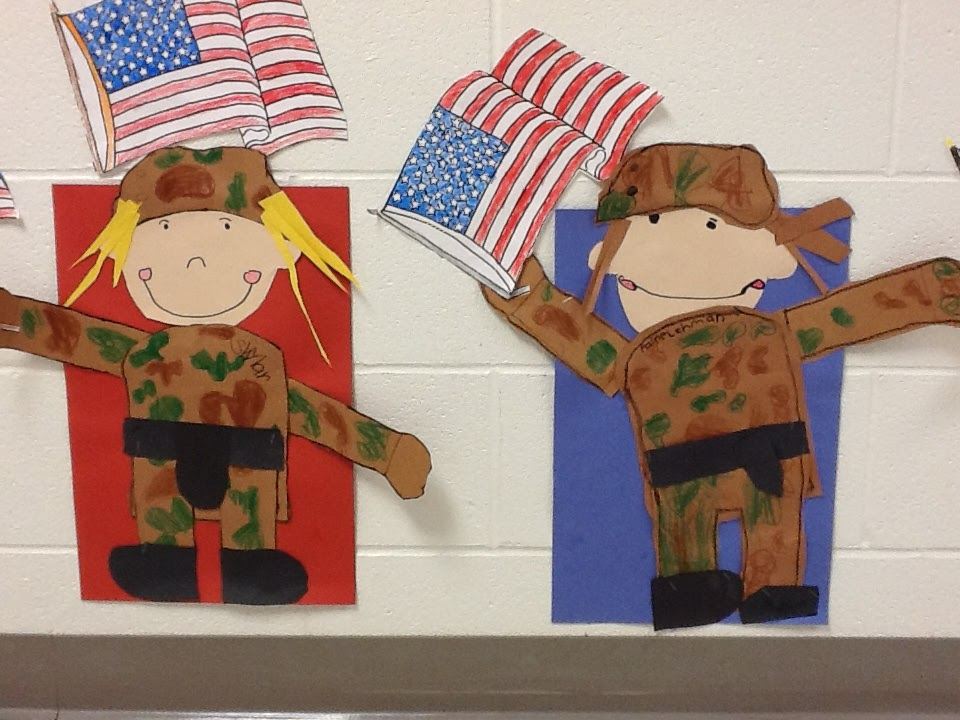 Veterans day first grade crafts for Welcome home troops decorations