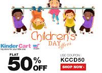 Kinderkart : Children's Day Offer at Flat 50% Off  : buytoearn