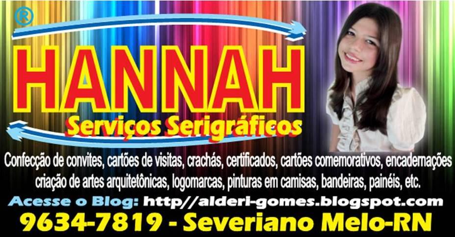 HANNAH SERVIÇOS SERIGRÁFICOS