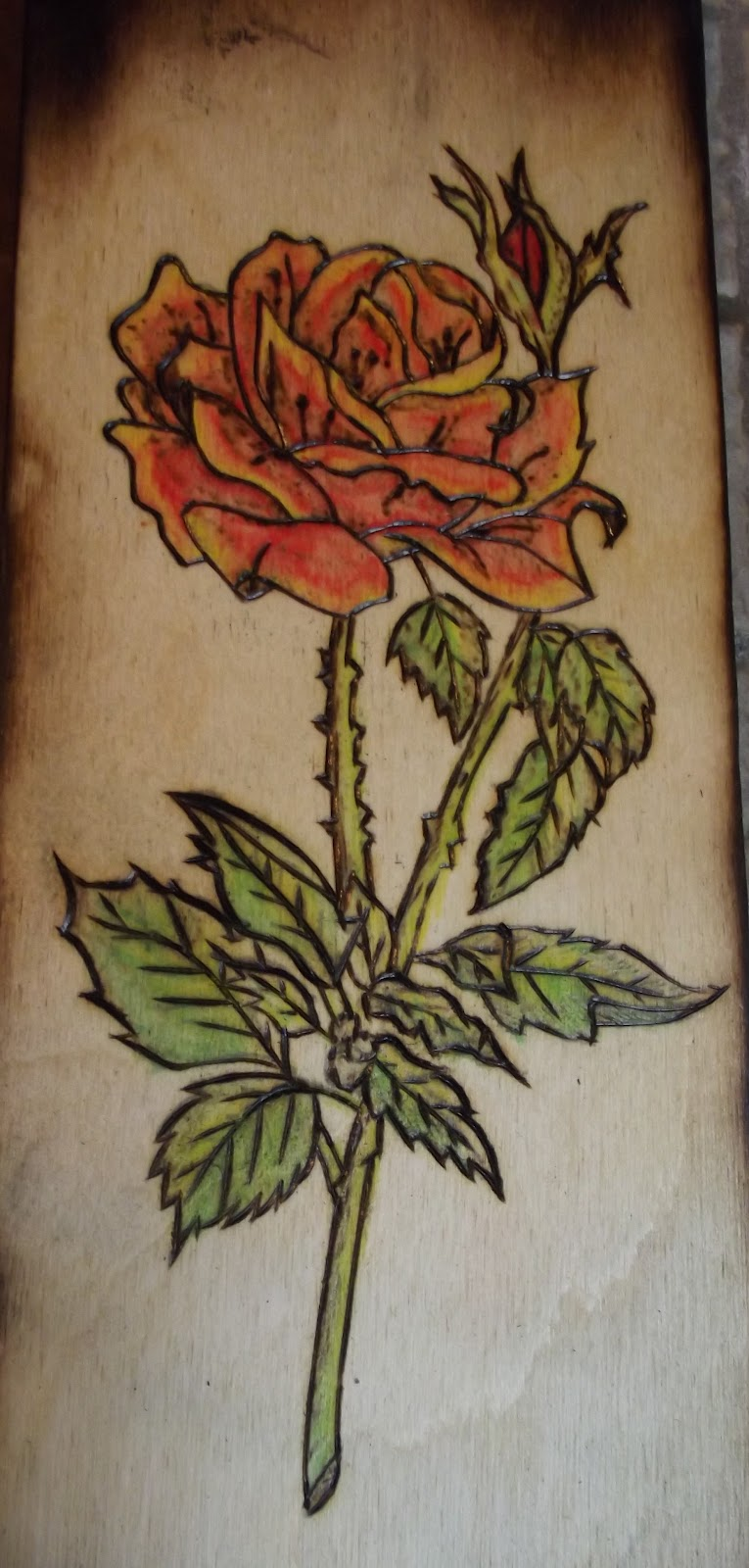 Beginner Wood Burning Patterns Class today - woodburning