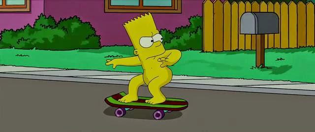 Bart Simpsons nackt Skate