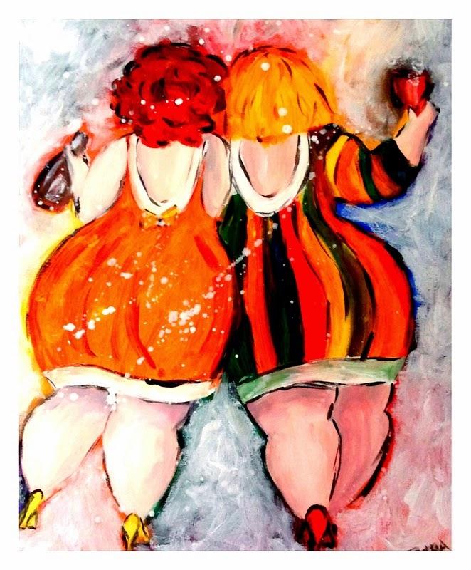 Dikke dames naar huis van een feestje..: hannahdesignbyshannon.blogspot.com