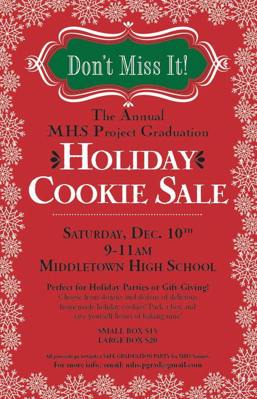 Middletowneye middletown high school project graduation cookie sale