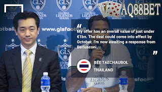 Liputan Bola - Investor asal Thailand, Bee Taechaubol, atau yang dikenal dengan sebutan Mr Bee, dilaporkan menaikkan tawaran dengan harga fantastis untuk membeli klub AC Milan
