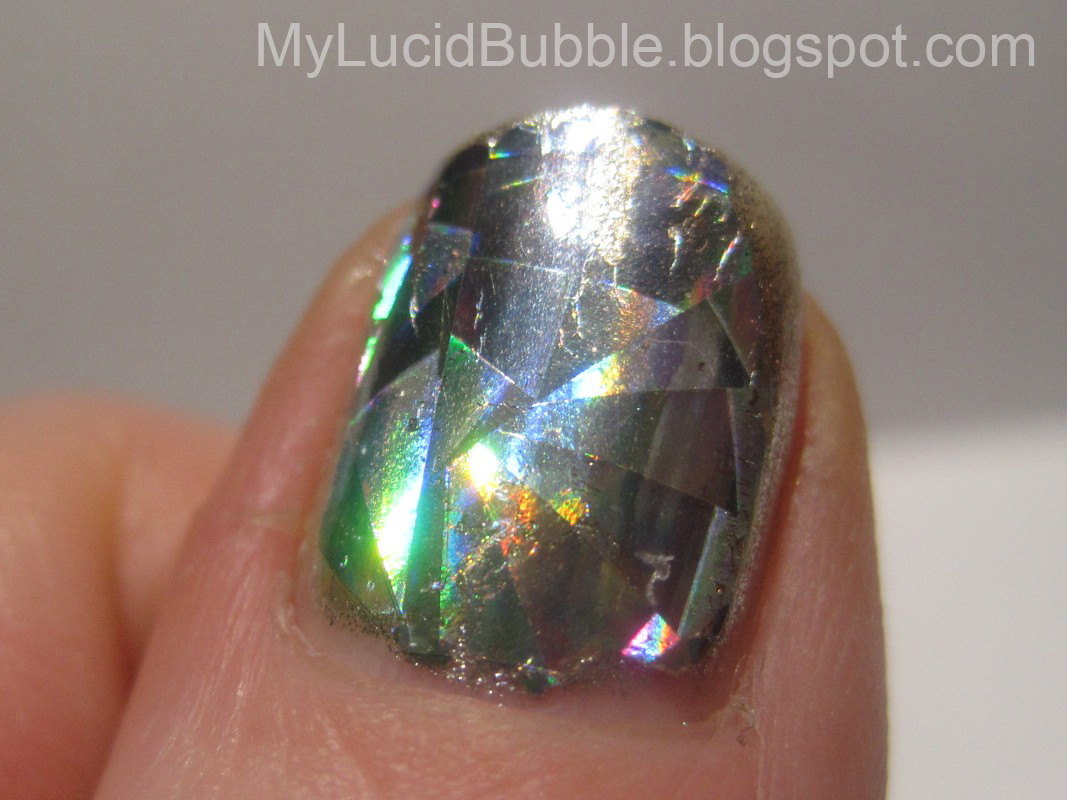 A topcoat that works for nail foils my lucid bubble if you use acrylic paints for nail art this may be something to check out to preserve your creations without smearing this also works for really adhering prinsesfo Image collections