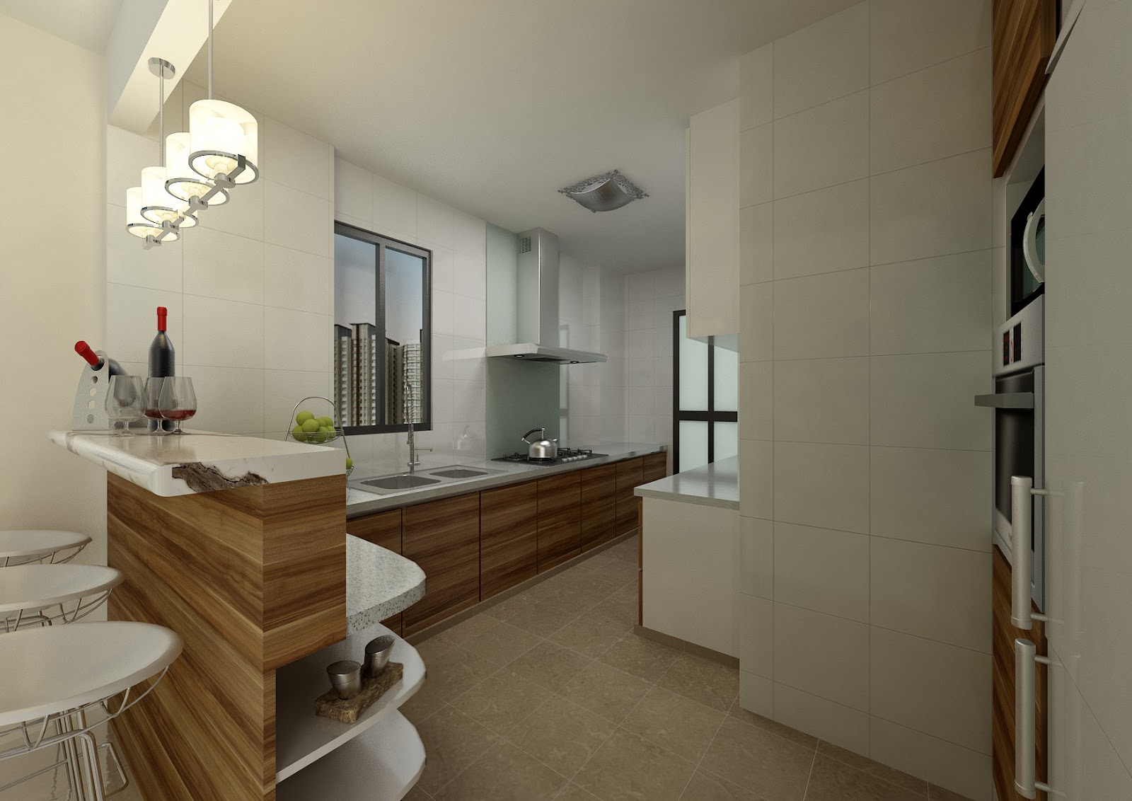 Imbued with love open concept kitchen in hdb Hdb open concept kitchen design