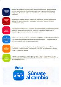 carta de propaganda electoral enviada por el PP y escrita por Mariano Rajoy (reverso)