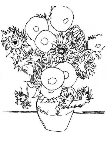 Maestro matteo piccoli artisti for Girasoli di van gogh da colorare