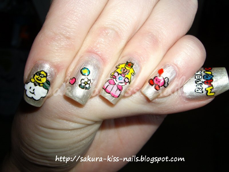 Sakura Kiss Nails: Video Game Nail Art!