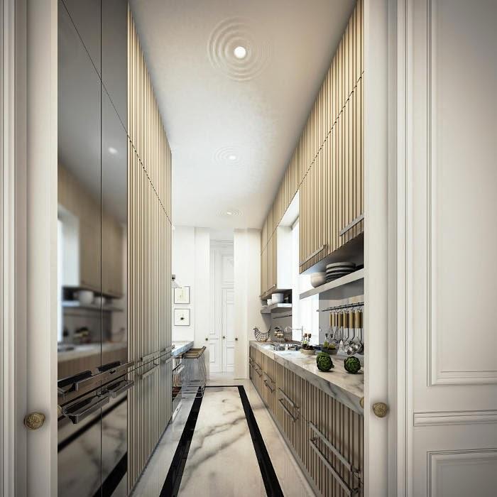Noir blanc un style for Appartement en 3d