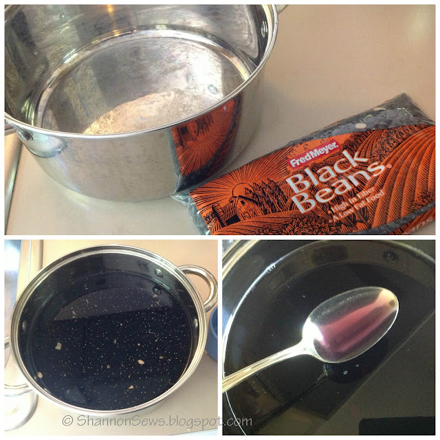 How to make blue dye from black beans