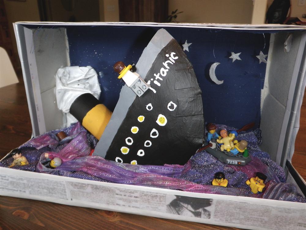 book report shoebox diorama