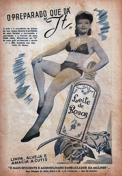 Propaganda do Leite de Rosas em 1954.