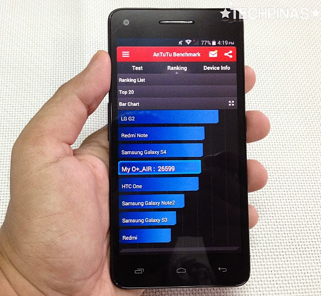 O+ Air Octa Core Android Smartphone
