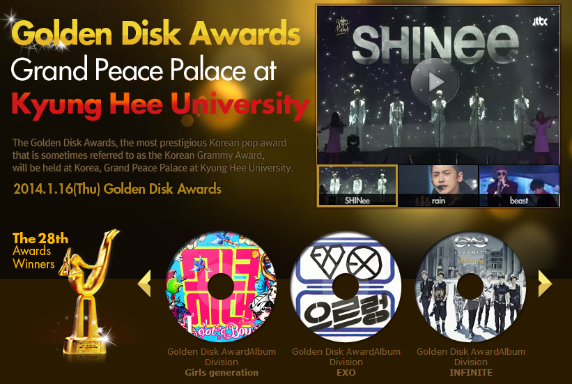[Show] 140116 The 28th Golden Disk Award