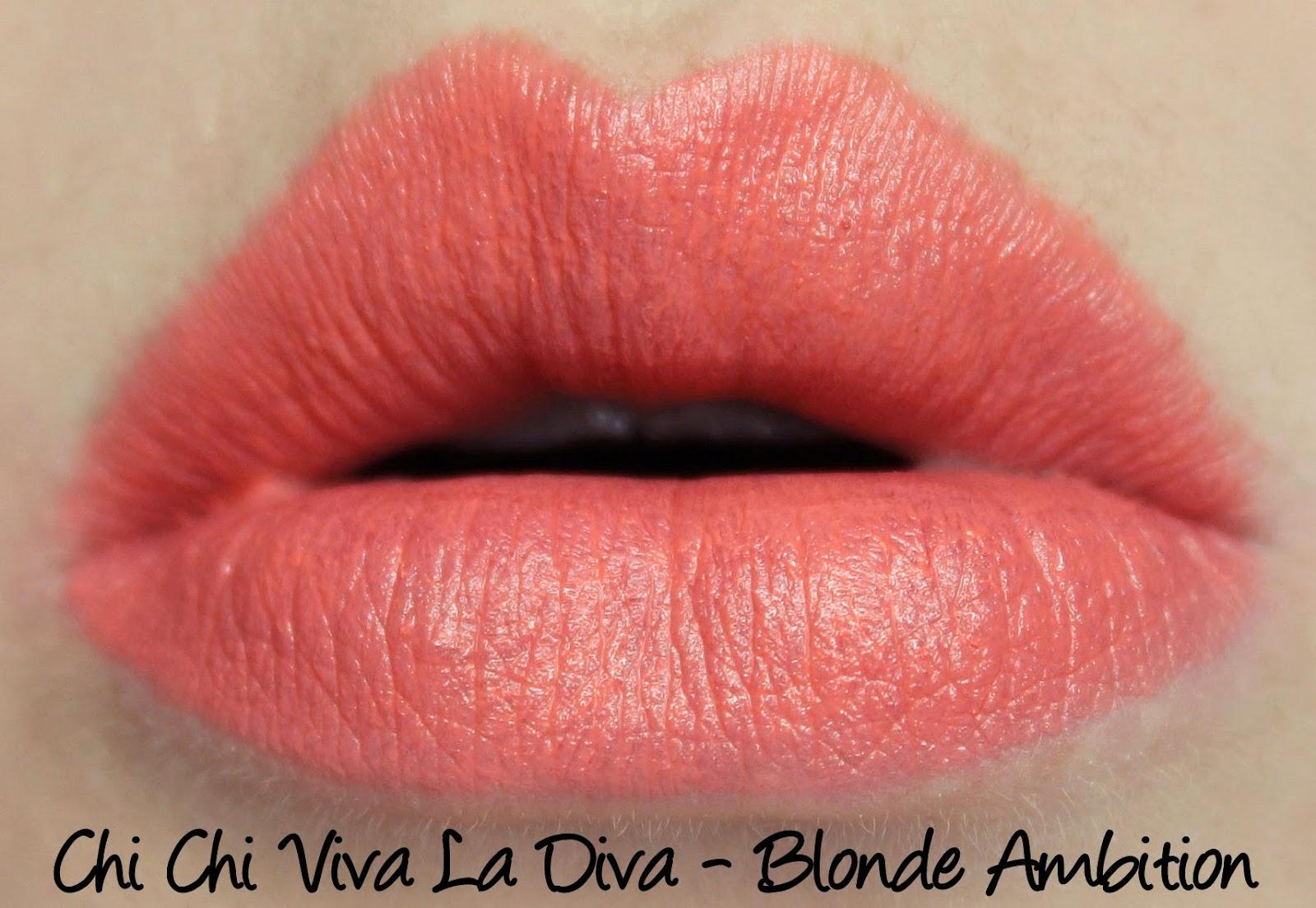 Chi Chi Viva La Diva Lipstick - Blonde Ambition Swatches & Review