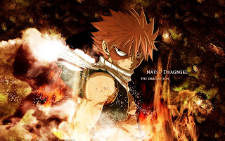 Fairy Tail Natsu Dragneel Anime Rage Eye Flame Anime HD Wallpaper Desktop Background